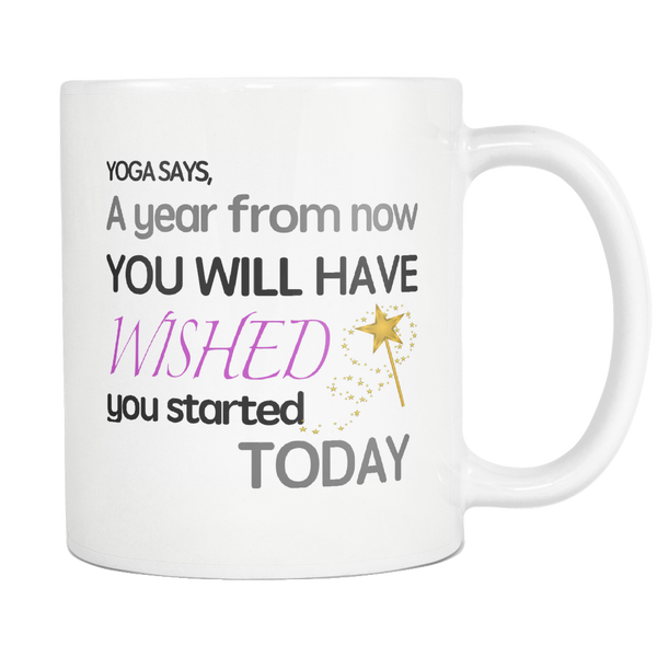 Yoga Coffee Mug Inspirational Motivational Procastination Cup Quote - silverageproducts.com