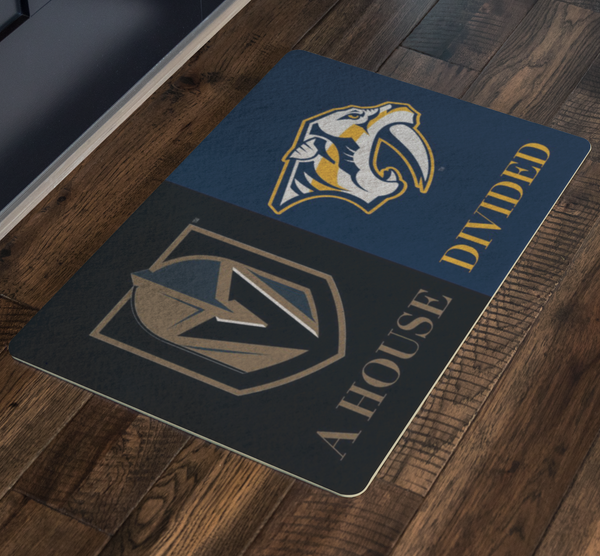 Preds Vegas House Divided Doormat - silverageproducts.com