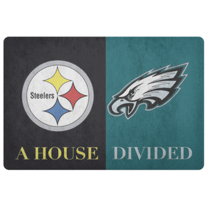 Steelers Eagles Doormat - silverageproducts.com