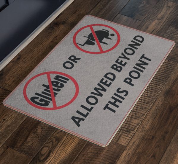 Gluten Free Bull Free Welcome Porch Doormat - silverageproducts.com