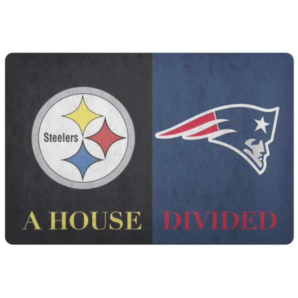 Steelers Patriots Doormat - silverageproducts.com