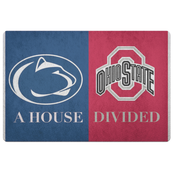 Penn State Ohio State Man Cave Door Mat Welcome Football NCAA Rug - silverageproducts.com