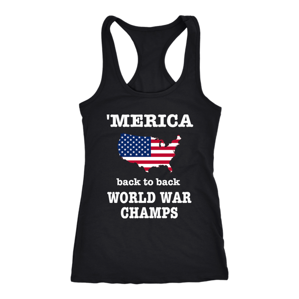 Merica World War Champs Country Strong The Ranch RacerTank Patriotic Tshirt - silverageproducts.com