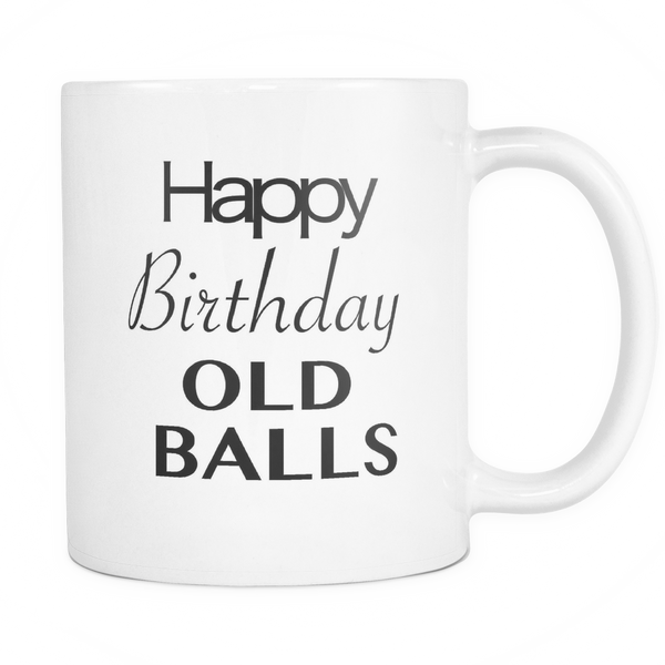 50th Birthday Mug Over The Hill Dad Jokes Gift Happy Birthday Old Balls Aging Humor - silverageproducts.com