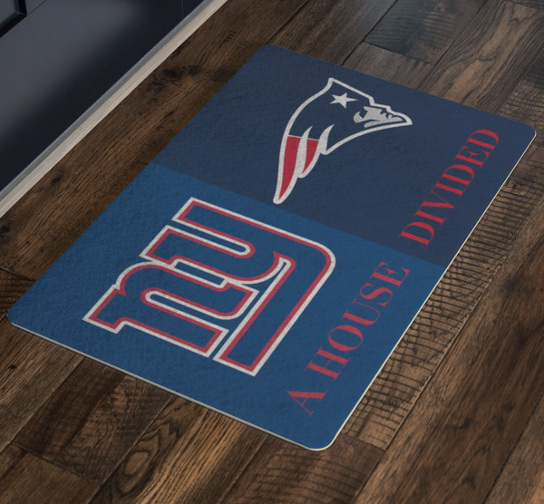 NY Giants Patriots Doormat - silverageproducts.com