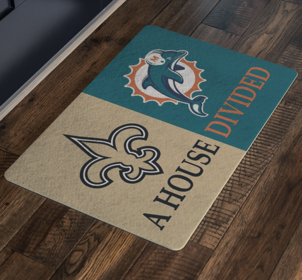 Saints Dolphins Doormat - silverageproducts.com