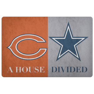 House Divided Man Cave Decor Cowboys Doormat - silverageproducts.com