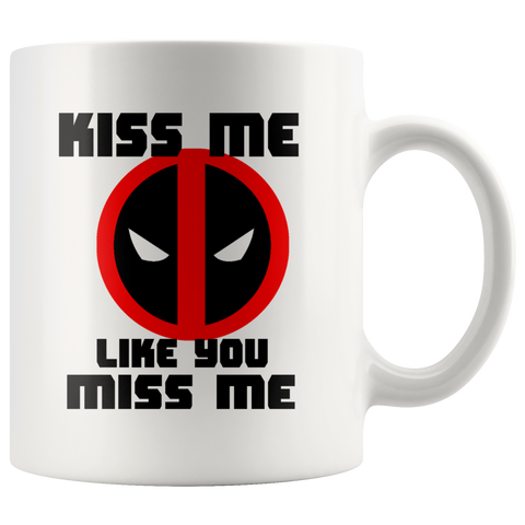 Deadpool Ryan Reynolds Movie Coffee Mug Kiss Me Mug Avengers Mug Cup X-Men - silverageproducts.com