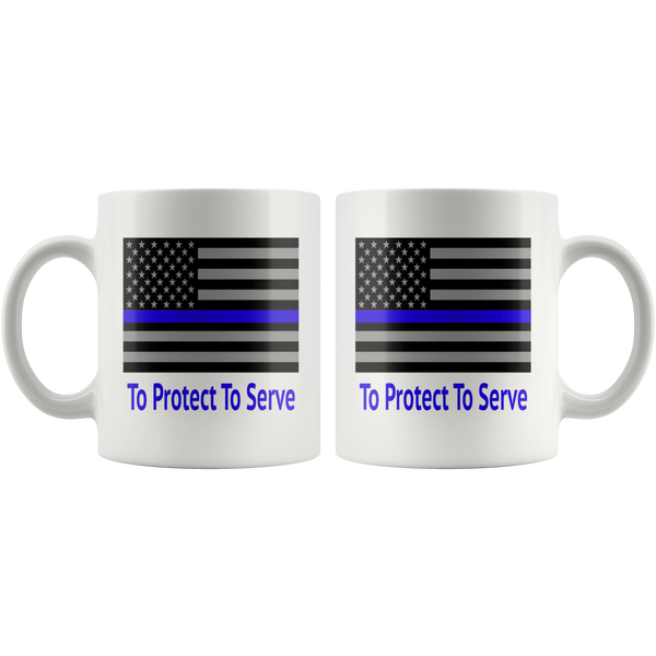 Thin Blue Line  policeMan PoliceWoman Career Coffee Mug - silverageproducts.com