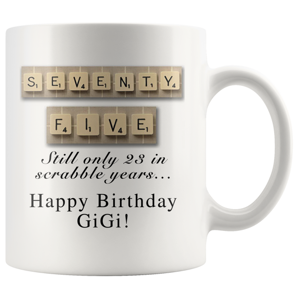 GiGi Scrabble Mug - silverageproducts.com