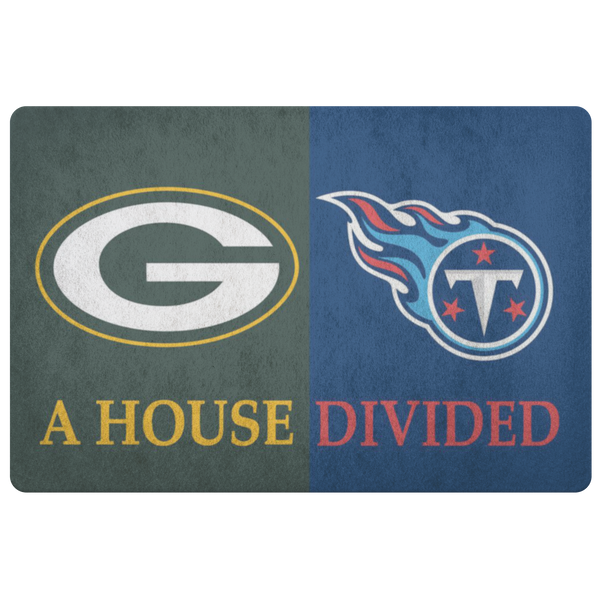 Green Bay Packers Tennessee Titans Welcome Doormat - silverageproducts.com