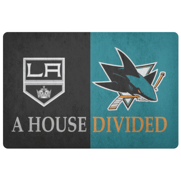 San Jose Sharks La Kings Hockey Doormat - silverageproducts.com