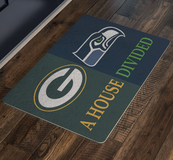 Green Bay Seattle Seahawks Welcome Mat Doormat - silverageproducts.com