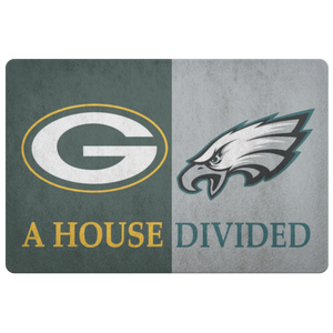 Green Bay Packers Philadelphia Eagles Welcome Doormat - silverageproducts.com