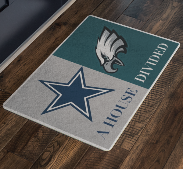 Philadelphia Eagles Dallas Cowboys Welcome Doormat - silverageproducts.com