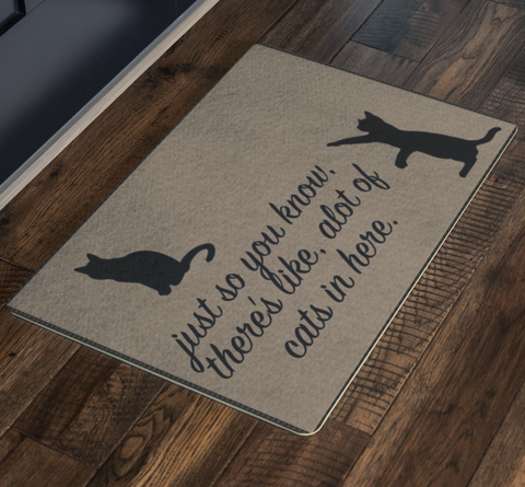 Cat Lover Doormat Funny Doormat Gift Personalized Rug Housewarming Gift Pet Lover Welcome Mat Bunch Of Cats In Here Cat Decor Cat Gifts - silverageproducts.com