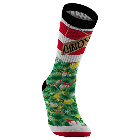 Christmas Holiday Festive Socks Xmas Gear Custom Personalized Socks Footwear - silverageproducts.com