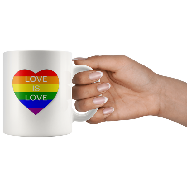 Love Is Love Shirt Lesbian Shirt Gay Coffee Mug Gay Pride Cup LGBT Gay Music Rainbow Pride Flag Gay - silverageproducts.com