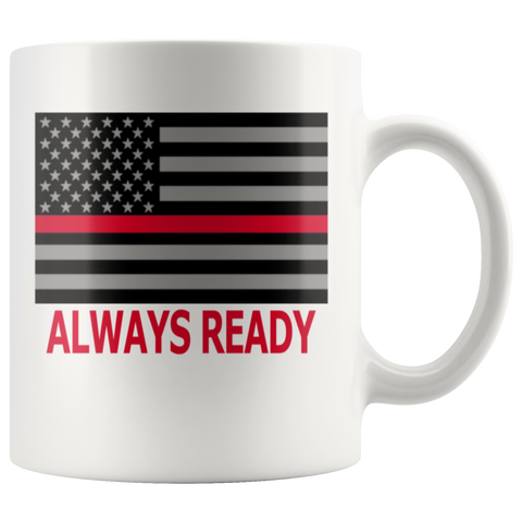 Thin Red Line Firefighter Career Mug - silverageproducts.com