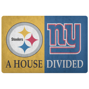 Pittsburgh Steelers NY Giants Welcome Doormat - silverageproducts.com