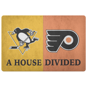 Pittsburgh Penguins Philadelphia Flyers Welcome Doormat - silverageproducts.com