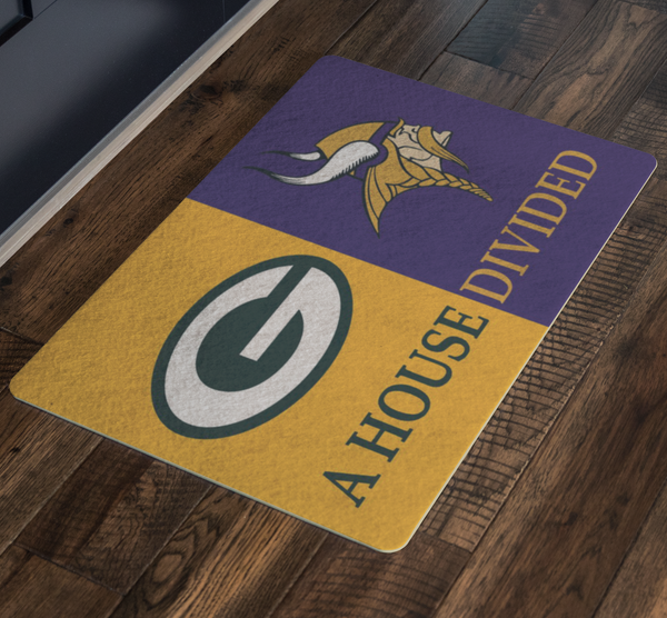 Green Bay Packers Front Porch Minnesota Man Cave Office Welcome Doormat - silverageproducts.com
