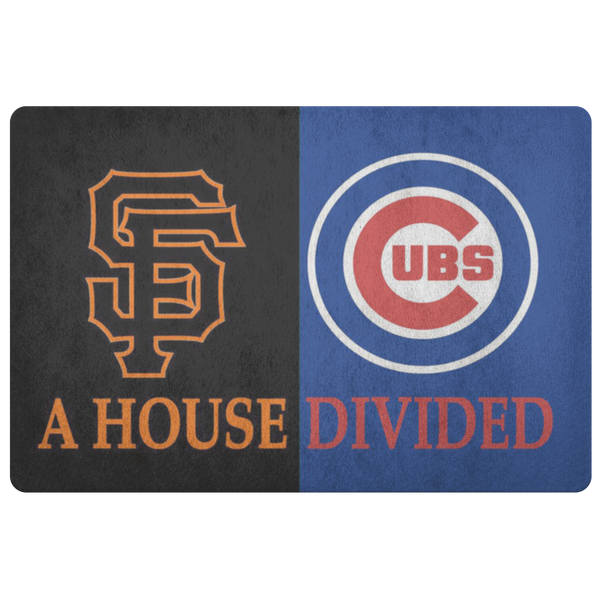 House Divided Man Cave Decor Cubs San Francisco Giants House Divided Doormat - silverageproducts.com