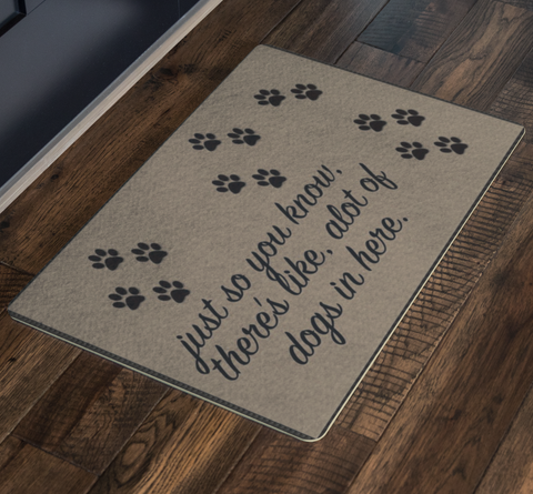 Dog Lovers Entryway Doormat - silverageproducts.com