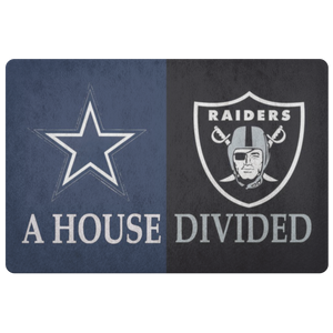 Dallas Cowboys Raiders Man Cave Doormat Entryway Rug - silverageproducts.com