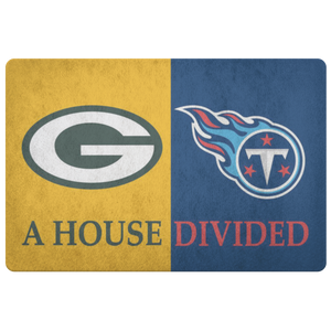 Green Bay Packers Tennessee Titans Porch Doormat - silverageproducts.com