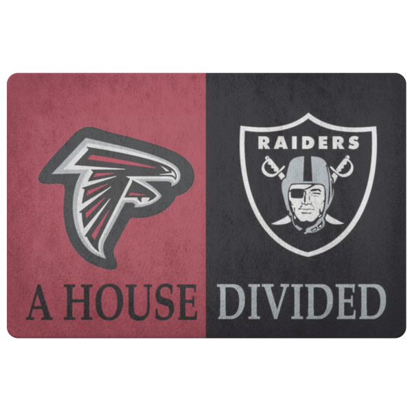 Falcons Raiders Doormat Man Cave Decor