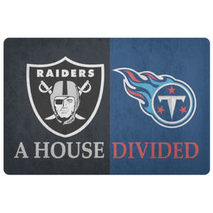 Raiders Titans Doormat - silverageproducts.com