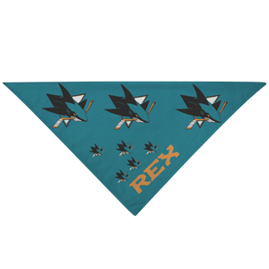 San Jose Sharks Pet Dog Bandana Customizable - silverageproducts.com