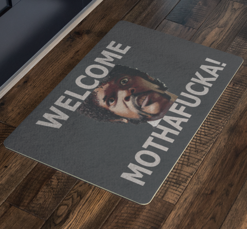 Sam Jackson Pulp Fiction Welcome Doormat - silverageproducts.com