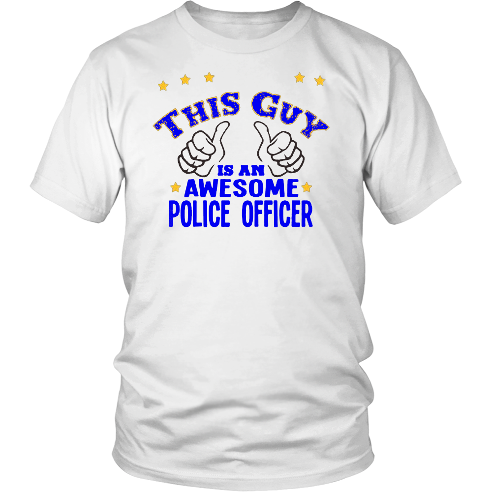 Police Officer Gift Cop Tshirt, Police Academy Graduation I Love My Officer, Awesome PoliceMan T-shirt - silverageproducts.com
