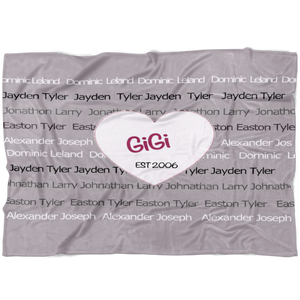 GiGi EST 2006 Custom Family Fleece Blanket - silverageproducts.com