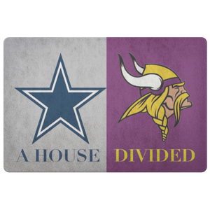 House Divided Man Cave Decor Viking Doormat - silverageproducts.com