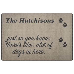 The Hutchisons Pet Dog Doormat - silverageproducts.com