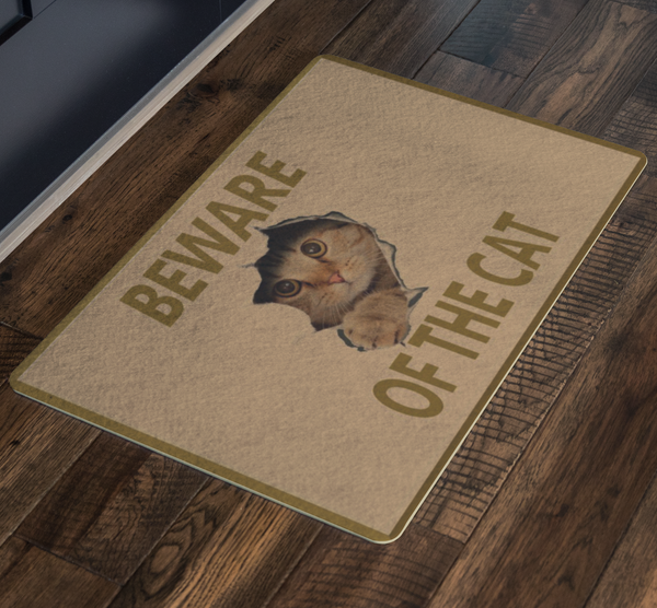 Cat Doormat Welcome Mat Funny Doormat Cute Doormat Cat Gifts Crazy Cat Lady Housewarming Pet Gift Pet Lover Doormat Cat Lover Porch Entryway - silverageproducts.com