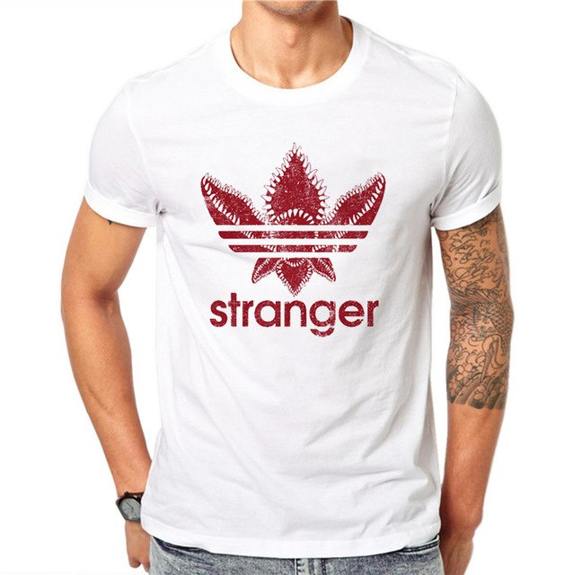 Upside Down Shirt Stranger Things Tshirt Hawkins Middle Adidas Red Clover Netflix Stranger Show Tee - silverageproducts.com