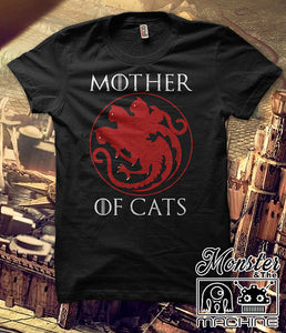 Mother Of Cats GOT Catleesi Crazy Cat Lady Cat Mom Pet Lover Tshirt Tee Casual T-shirts Game Of Thrones Harajuku Tees Tshirts Plus Size Female T Shirts Women - silverageproducts.com