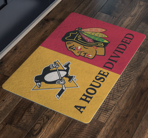 Pittsburgh Penguins Chicago Blackhawks Doormat - silverageproducts.com