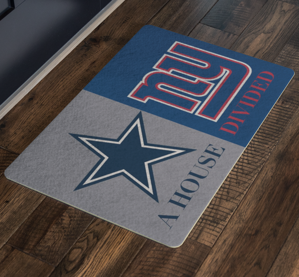 House Divided Man Cave Decor Giants House Divided Doormat - silverageproducts.com