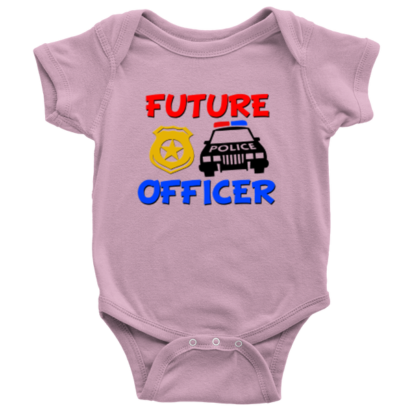 Future Police Officer Novelty Baby Onesie - silverageproducts.com