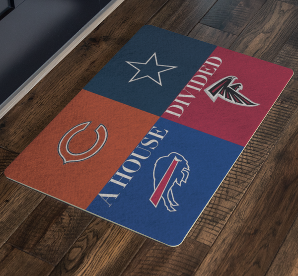 4 Teams Bills Bears Cowboys Falcons Doormat - silverageproducts.com