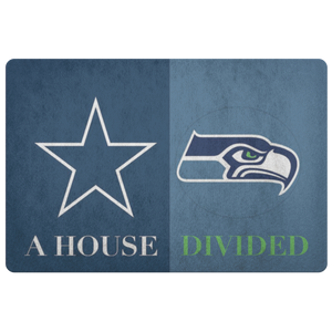 Seahawks Cowboys Doormat - silverageproducts.com
