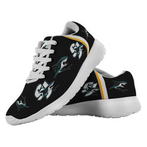San Jose Sharks SJ Sharks Sharks Shoes Sneakers Custom Printed - silverageproducts.com