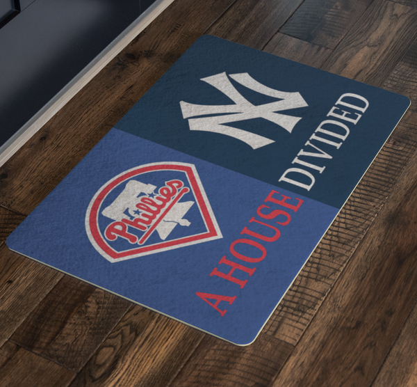 Phillies Yankees Doormat - silverageproducts.com