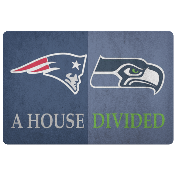 Seattle Seahawks Front Porch New England Patriots Man Cave Office Doormat - silverageproducts.com