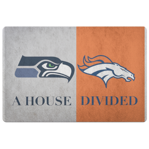 House Divided Man Cave Decor Seahawks Doormat - silverageproducts.com